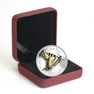 Fine Silver Coin - Butterflies of Canada: Canadian Tiger Swallowtail