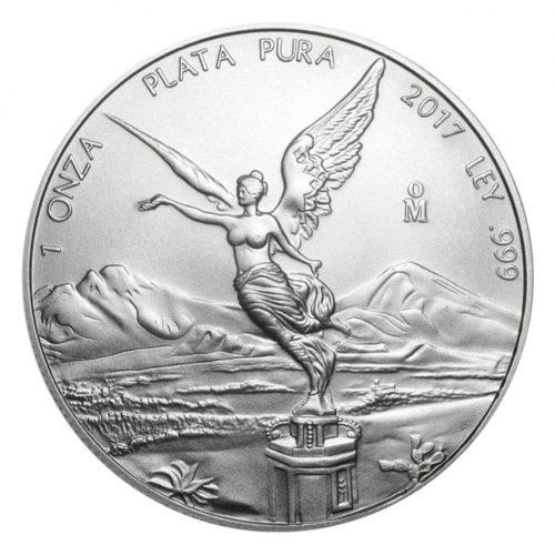 LIBERTAD - MEXICO - 2017 1 oz Brilliant Uncirculated Silver Coin