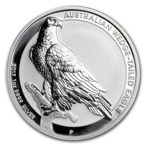 AUSTRALIA WEDGE TAILED EAGLE - 2017 1 oz BU Silver Coin in Capsule