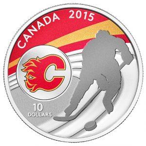 2015 1/2 oz Fine Silver Coin - NHL - Calgary Flames