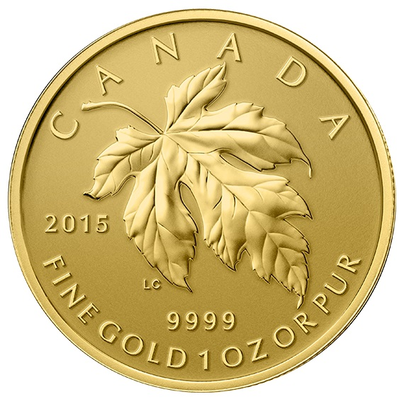 2015 Pure Gold Fractional Set The Maple Leaf The Coin