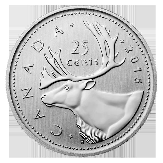 2015 Canada 25 cent specimen finish from specimen set