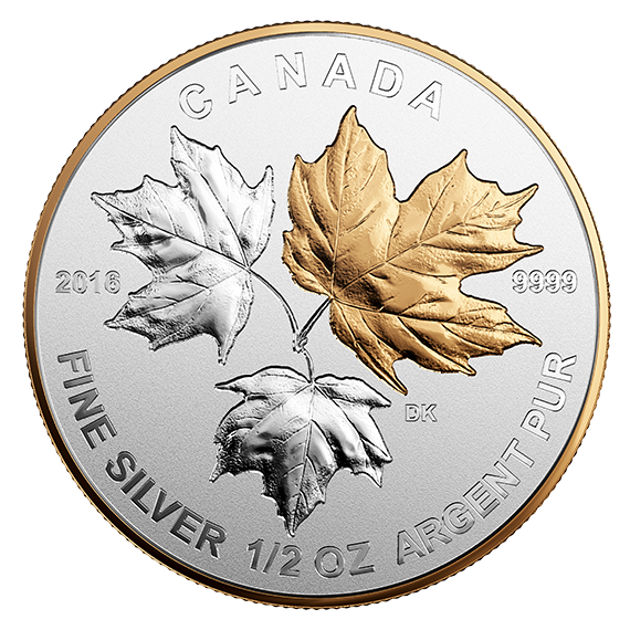2016 A Historic Reign-Fractional Set of 5 Silver Maple Leaf coin.9999 NT 17456