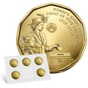 100TH ANNIVERSARY OF WOMEN'S RIGHT TO VOTE COIN PACK - 2016 5 x $1 UNC Canadian Loonies
