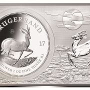 50TH ANNIVERSARY OF THE KRUGERRAND - 2017 1 oz Pure Silver Coin & 2 oz Pure Silver Bar - Officially Certified by the South African Mint
