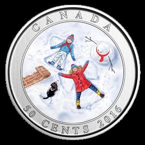 *SNOW ANGELS - 2016 50-Cent Lenticular Coin - RCM