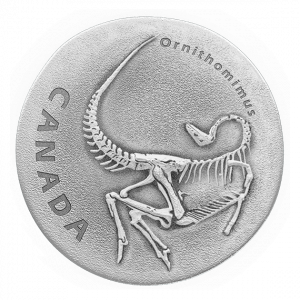*ORNITHOMIMUS - ANCIENT CANADA - 2017 $20 1 oz Fine Silver Antique Finish Coin - Royal Canadian Mint