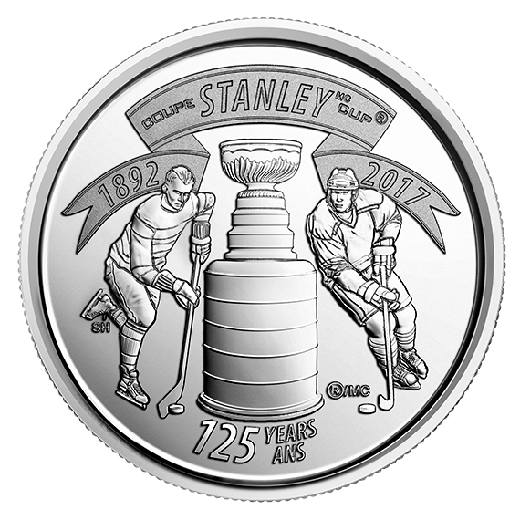 2017 25 CENT CIRCULATION COIN 125TH ANNIVERSARY STANLEY CUP FIVE 5 COIN PACK