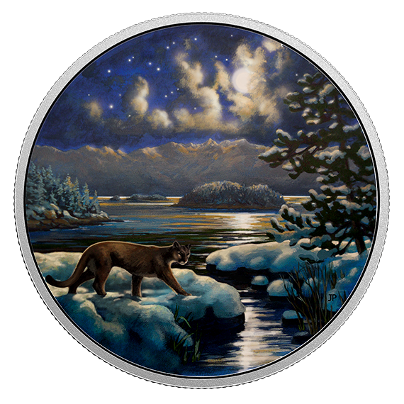 Cougar Animals In The Moonlight 2017 30 2 Oz Glow In