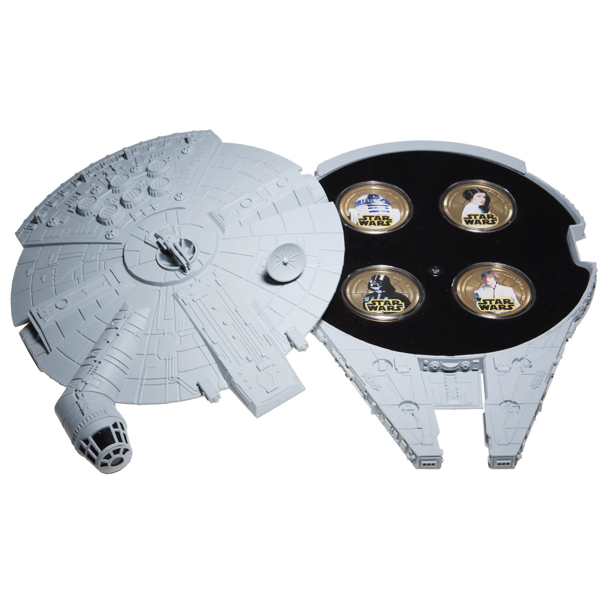 Millennium Falcon Star Wars 2011 Gold Plated 4 Coin