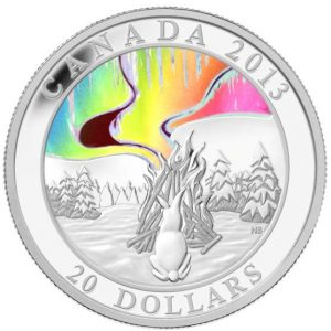 2013 A Story of the Northern Lights: The Great Hare - Fine Silver Hologram Coin - Mintage: 8500