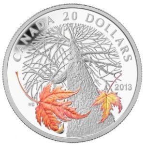 2013 1 oz Silver Coin - Canadian Maple Canopy (Autumn)