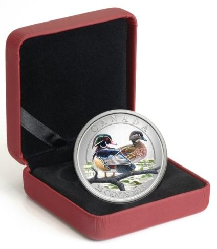 2013 Wood Duck - Coloured Coin