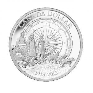 Proof Fine Silver Dollar - 100th Anniversary of the Canadian Arctic Expedition