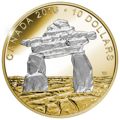 ICONIC CANADA - INUKSHUK - 2016 $10 1/2 oz Fine Silver Coin - Royal Canadian Mint