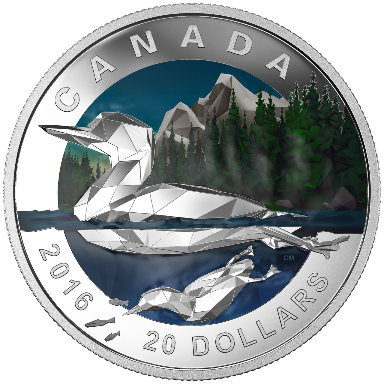 2014 $5 Lion on Mountain Silver Uncirculated Proof Canadian Bank Notes Series