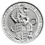 THE LION OF ENGLAND - THE QUEEN'S BEASTS - 2016 2 oz Silver Bullion Coin