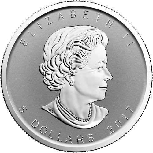 2017 1 Oz Moose Privy Canadian Silver Maple Leaf Reverse