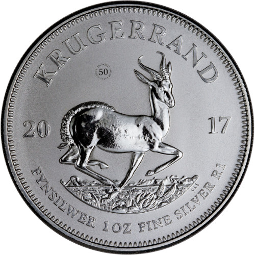 SOUTH AFRICAN SILVER KRUGERRAND - 2017 1 oz Pure Silver Premium Uncirculated Coin - COA