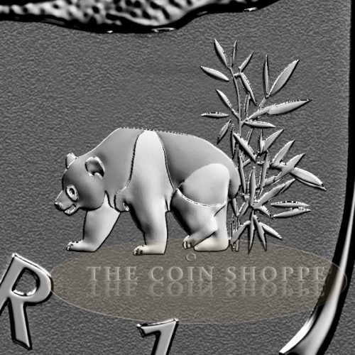 PANDA PRIVY II - 2017 1 oz Pure Silver Maple Leaf Reverse Proof Coin