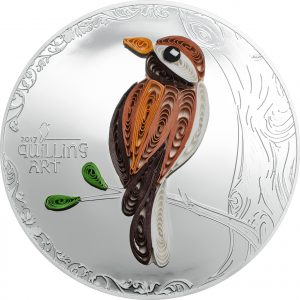 BIRD - QUILLING ART - 2017 $2 1/2 oz Pure Silver Coin - Coin Invest Trust