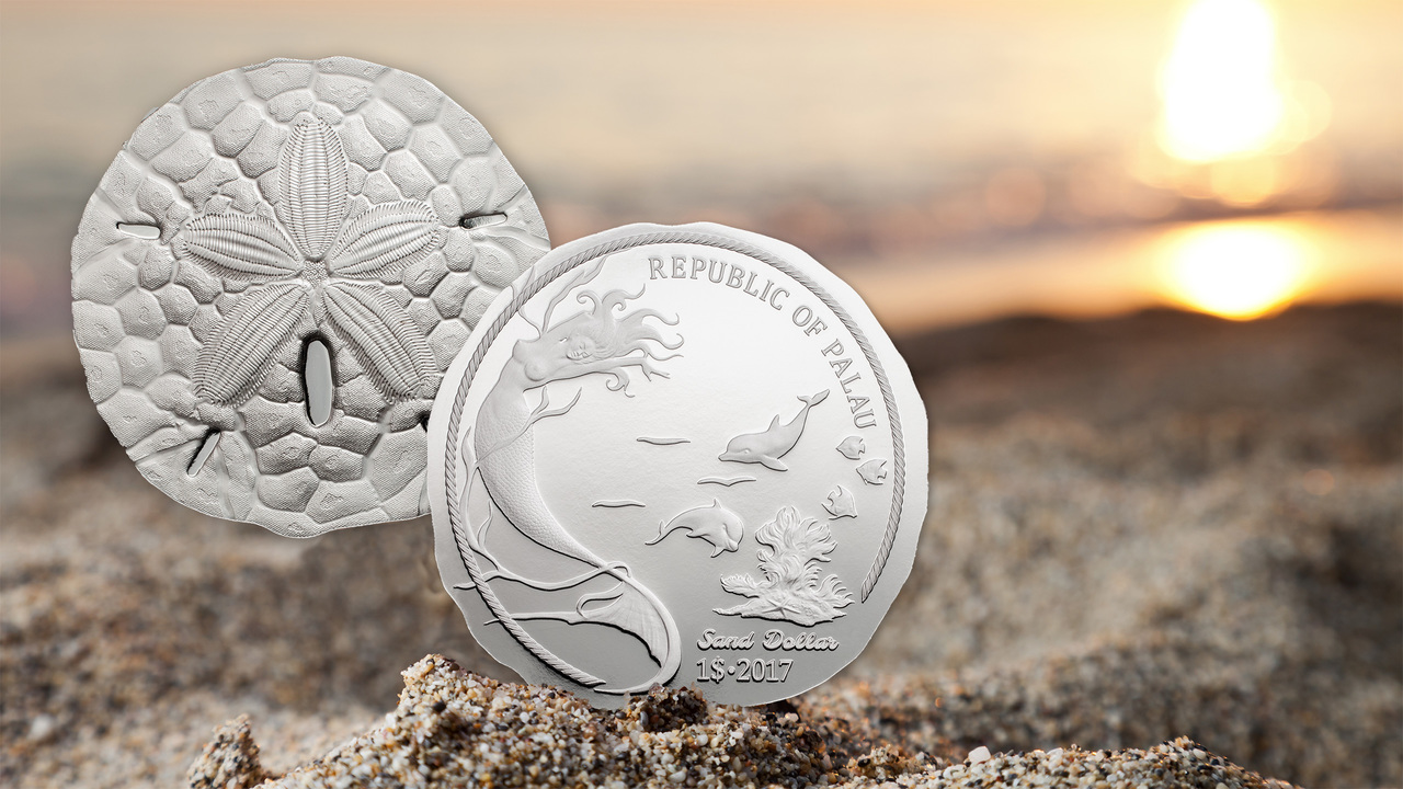 Coin Invest Trust 2019 1 oz $1.00 Pure Silver Coin SAND DOLLAR II Palau