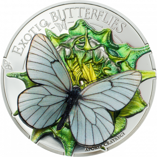 EXOTIC BUTTERFLIES IN 3D - APORIA CRATAEGI - 2017 1000 Shillings 25g Pure Silver Coin - Coin Invest Trust