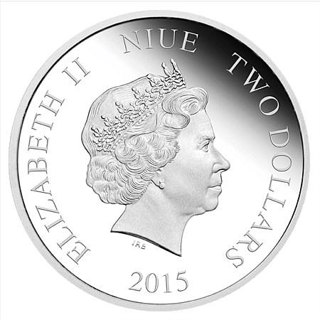 $2 Dollar Creatures of Greek Mythology Cerberus Niue Island 1 oz silver 2015