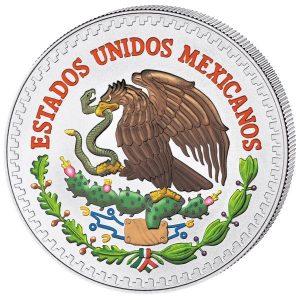 MEXICAN LIBERTAD - 2013 1/2 oz Pure Silver Color Coin