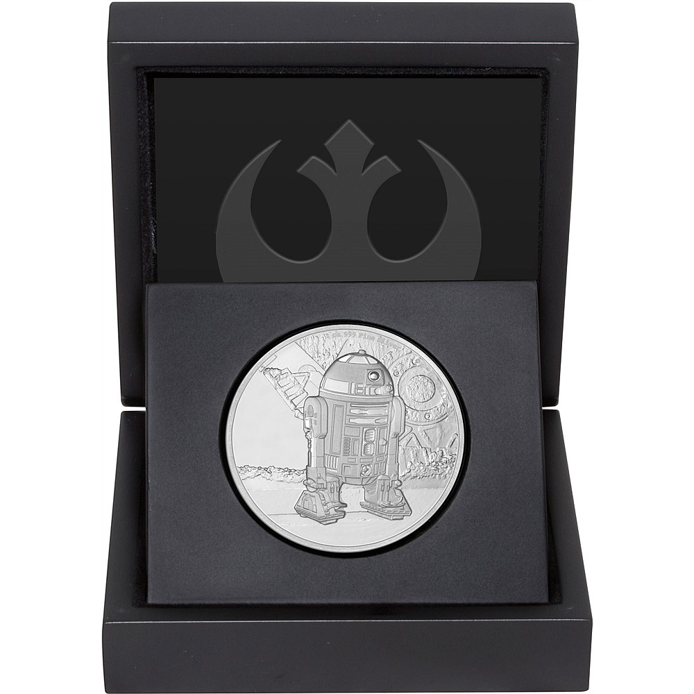 R2 D2 Star Wars Classic 2016 1 Oz Proof Silver Coin