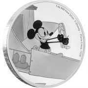 MICKEY MOUSE - THROUGH THE AGES - PLANE CRAZY - 2016 1 oz Pure Silver Coin - NZ MINT