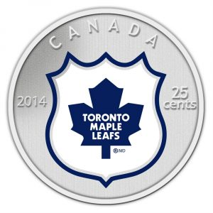 25c 2014 NHL Coin and Stamp Gift Set Toronto Maple Leafs