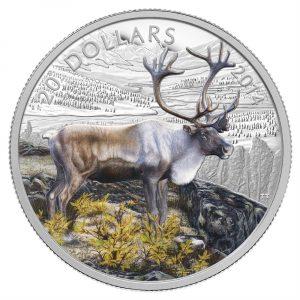 The Caribou Fine Silver Coloured Coin - 1 oz - 2014