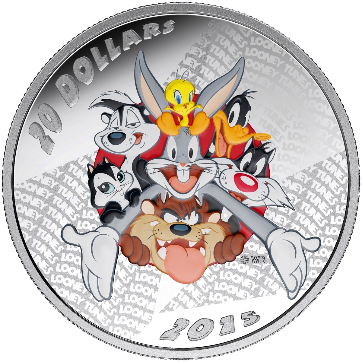 2015 20 1 Oz Fine Silver Coin Looney Tunes Merrie