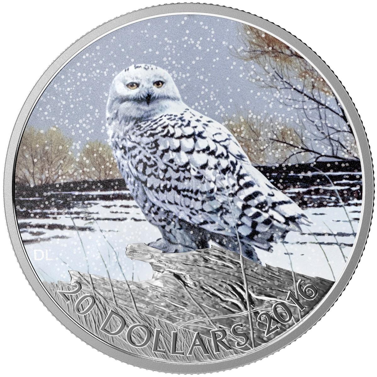 2016 20 1 Oz Fine Silver Coin Snowy Owl The Coin Shoppe