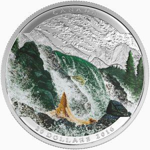 *LANDSCAPE ILLUSION: SALMON - 2016 $20 1 oz Fine Silver Coin