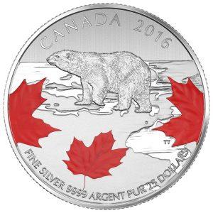 TRUE NORTH - 2016 $25 1/4 oz Fine Silver Coin