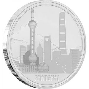 SHANGHAI - GREAT CITIES - 2017 1 oz Pure Silver Coin - NZ MINT