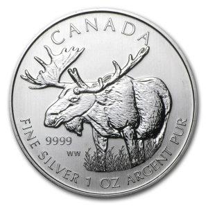 2012 1 oz Silver Coin - Canada Wildlife Series - Moose