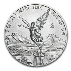 2016 2 oz Silver Coin - Mexico - Libertad - Brilliant Uncirculated