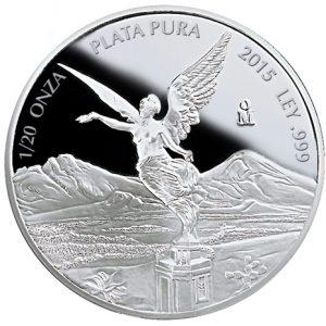 2015 1/20 oz Proof Silver Coin - Libertad - Mexico