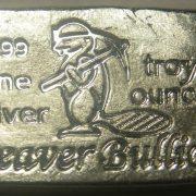 BEAVER BULLION - CANADA - POURED SILVER BAR - 1 oz Pure .999 Silver Bar
