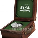 THE ELEPHANT - BIG FIVE - MAUQUOY HAUT RELIEF - 2017 5 oz High Relief Pure Silver Coin - Antique Finish - Ivory Coast