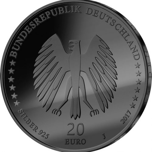 TOWN MUSICIANS OF BREMEN - FAMOUS GOLDEN ENIGMA - 2017 Silver Coin - Ruthenium and 24K Gold Plating - Germany
