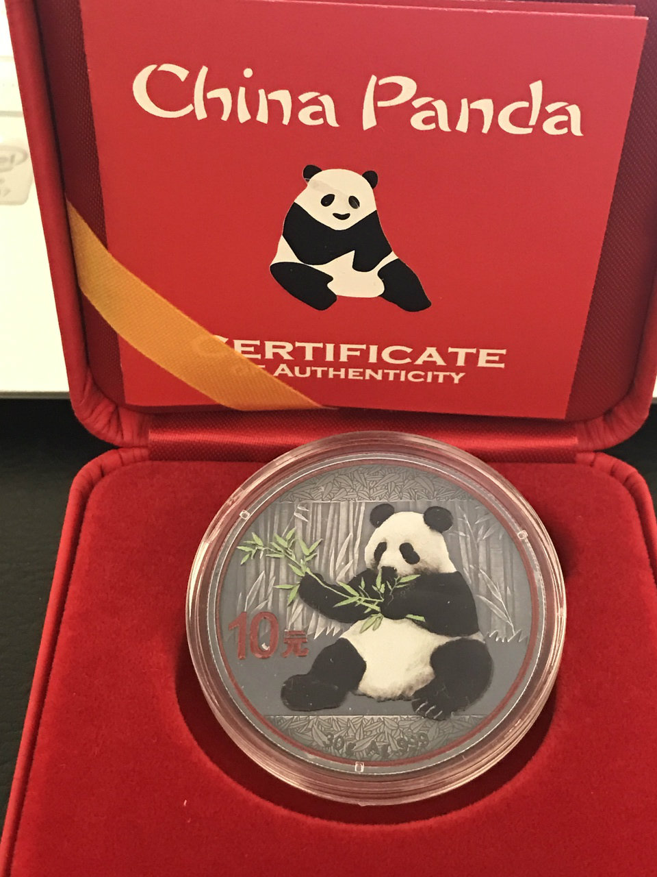 Panda Antique Finish With Color 2017 30 Gram Chinese