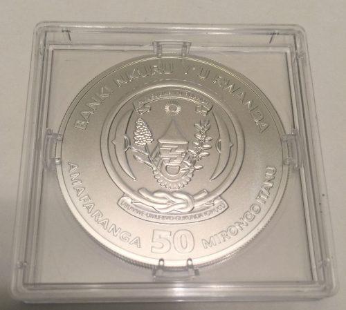 The Fabulous 15 - RWANDA RHINO - 2012 1 oz Pure Silver Coin - F15