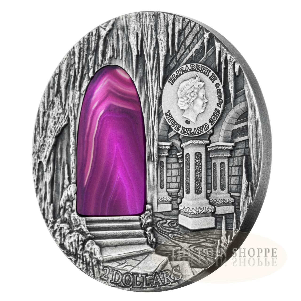 2 $ 2015 Niue Island Mysteries Of Hogwarts Special Buy Crystal Art Iv