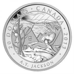 1 oz Fine Silver Coin - A.Y. Jackson, Saint-Tite-des-Caps - Mintage: 7000 (2013)