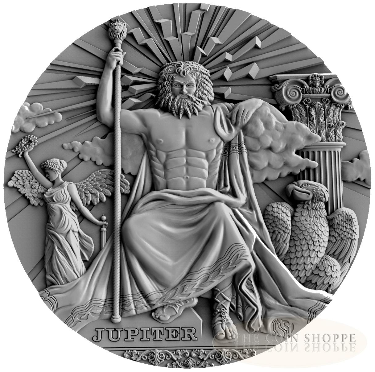 Jupiter Roman Gods 2016 2 Oz Ultra High Relief Pure