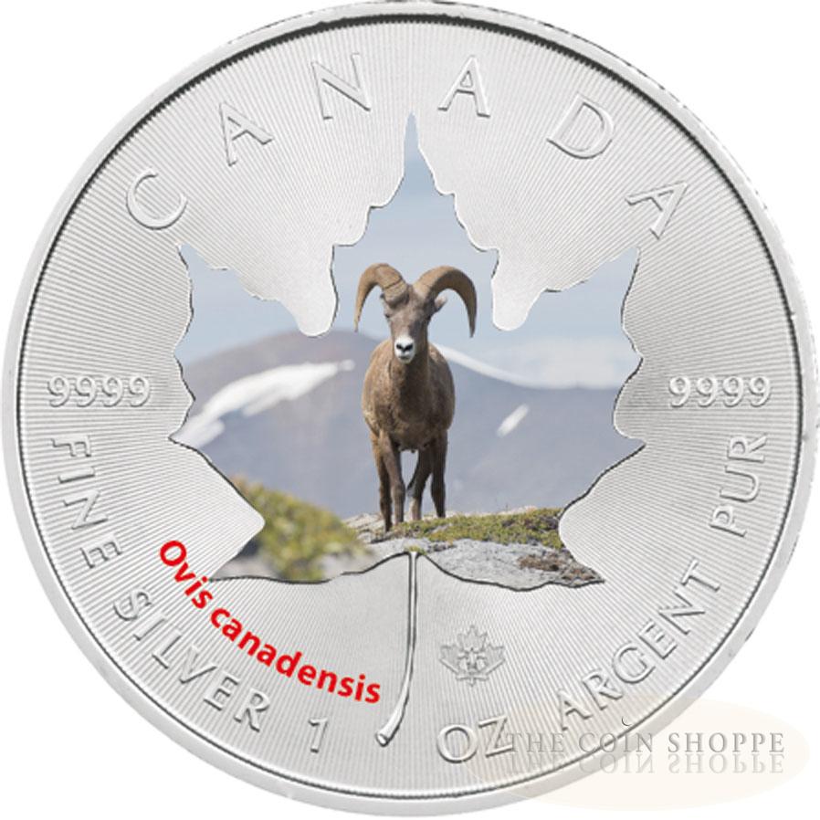2014 Canadian Wildlife 1 Oz Silver Maple Leaf Series Big